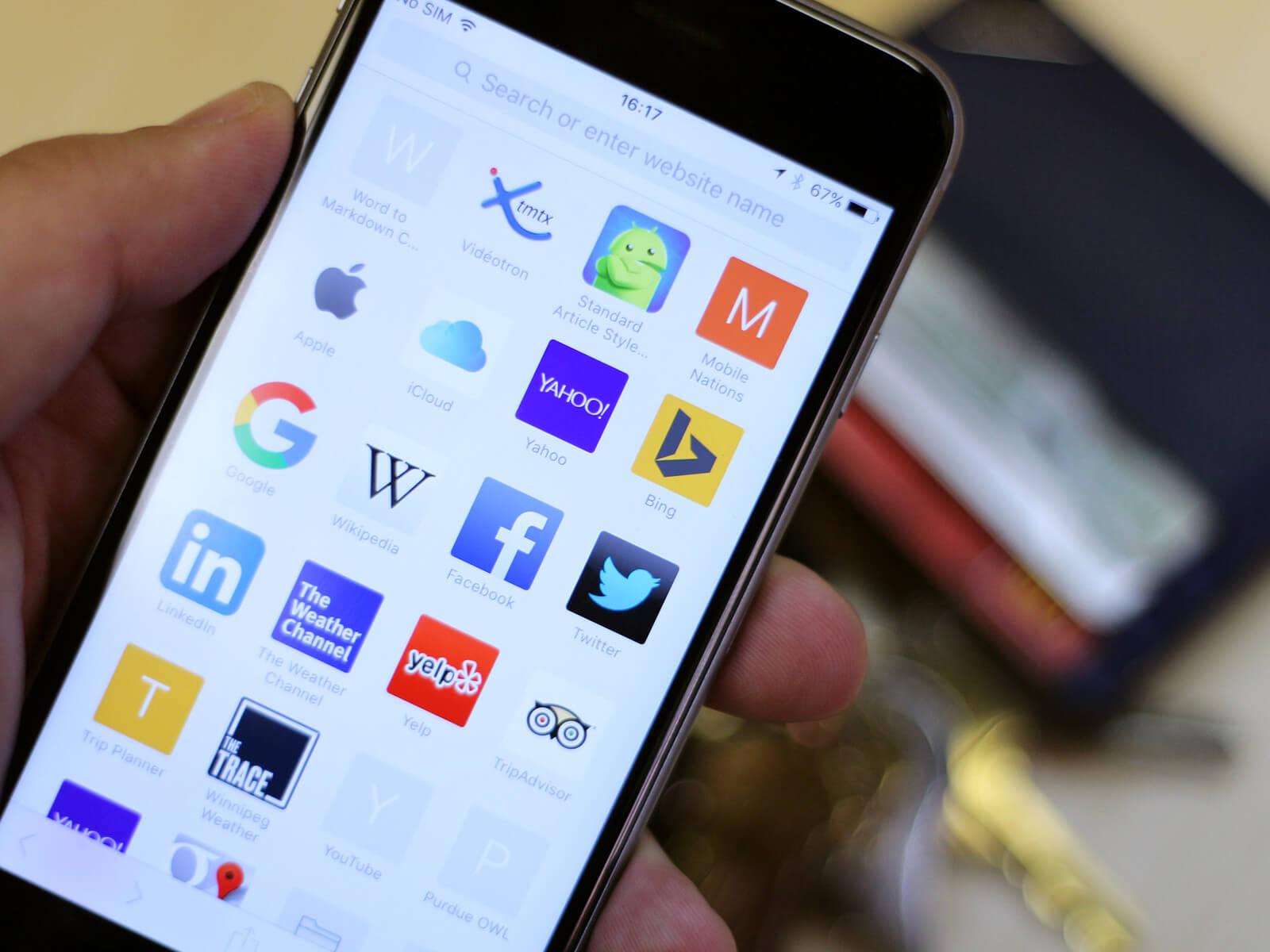 Salvare immagini su iphone navigando da Safari